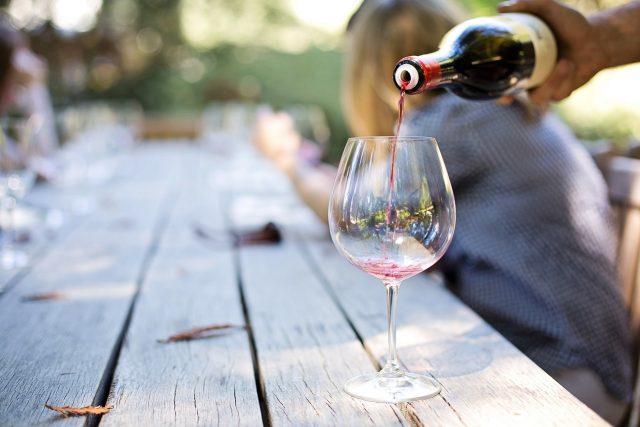 vino, leto, čaša, alkohol